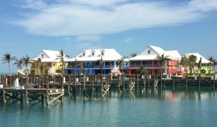 Quite a change of scenery; West End, Grand Bahama